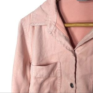 Chico's Faux Suede Blush Pink Buttons Up Shirt